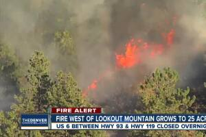 Bald Mountain Fire shuts down part of U.S. 6 in Jefferson County