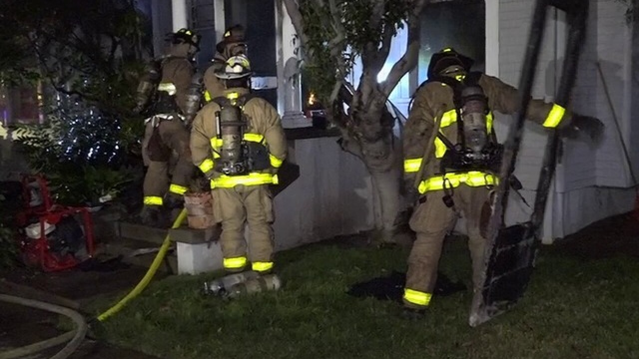Fire rips through North Park bungalow