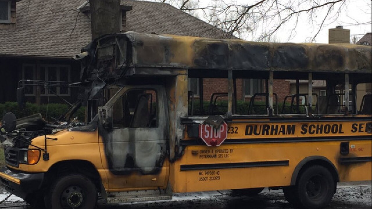No one injured in school bus fire in Leawood