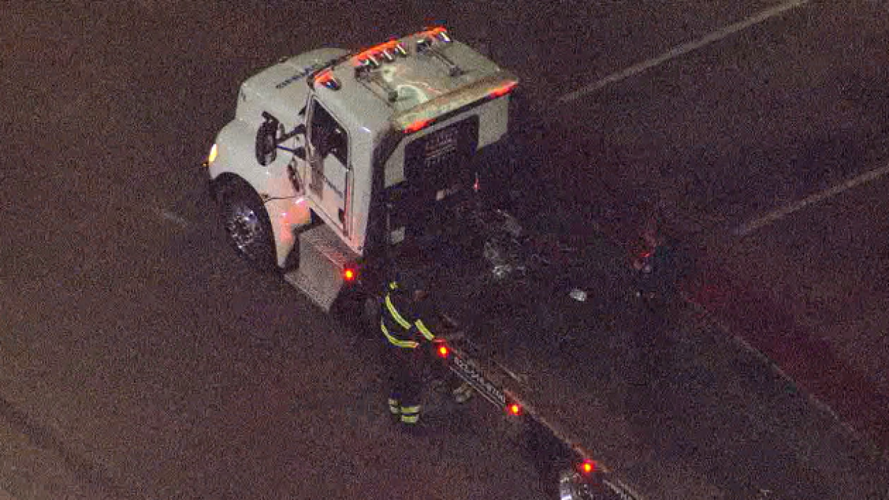 Car vs. motorcycle crash at 19th Avenue and Bell Road