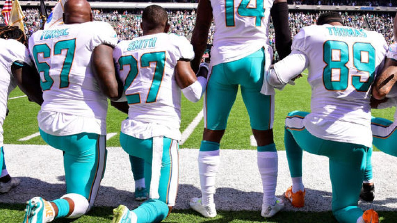Dolphins anthem punishment includes suspensions