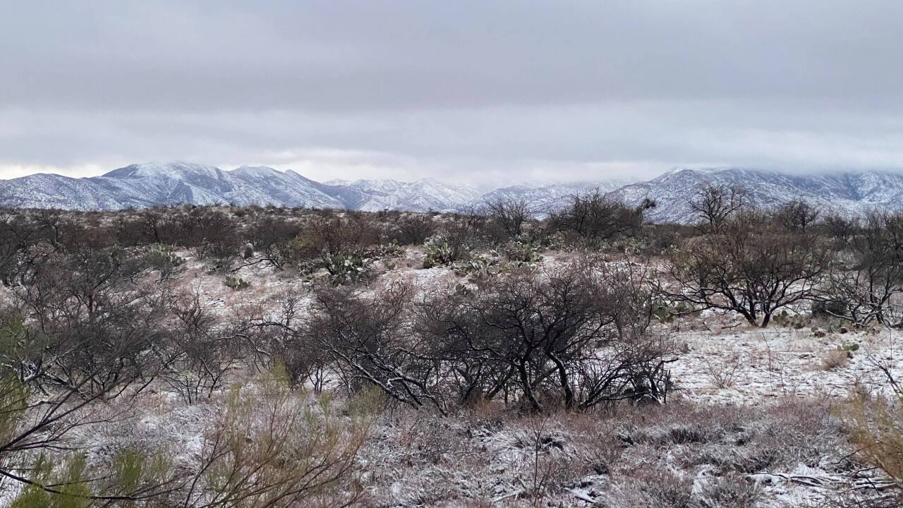 A winter storm is bringing rain and snow to Southern Arizona.