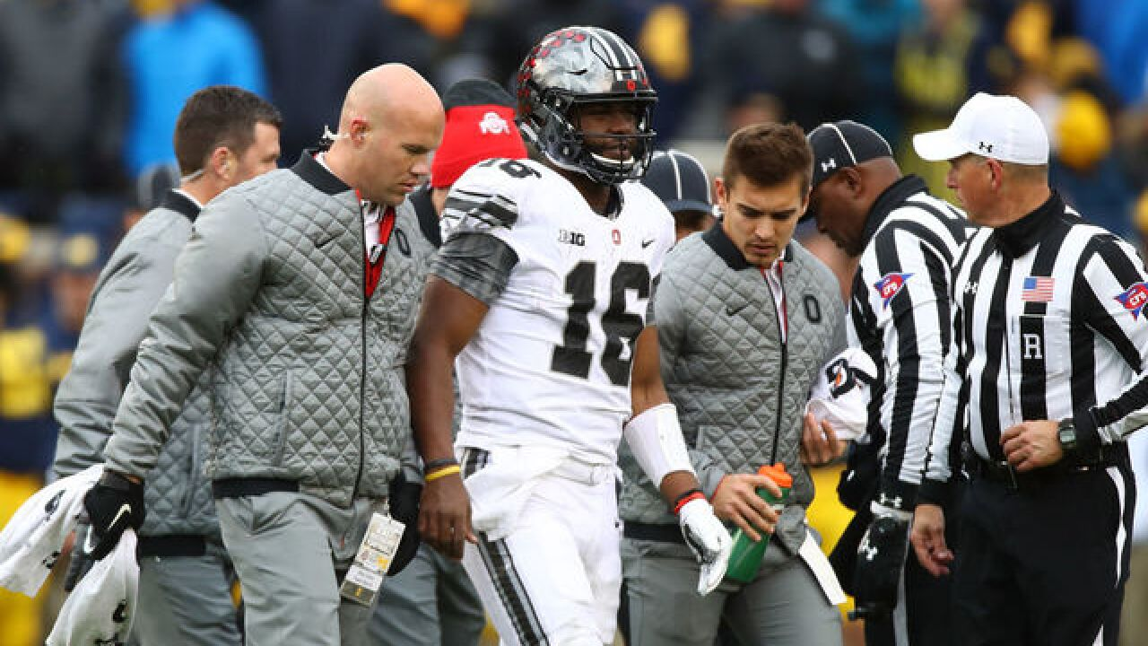 J.T Barrett injured before Ohio State game, Urban Meyer says there were too many people on sideline