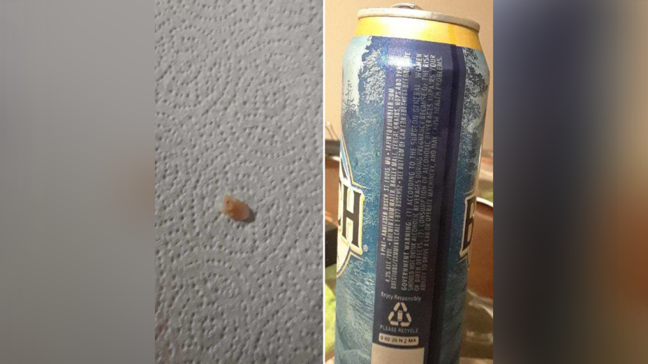 Florida man claims he found tooth inside Busch beer from