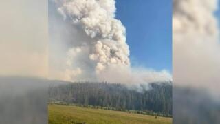 Trail Creek Fire in southwest Montana