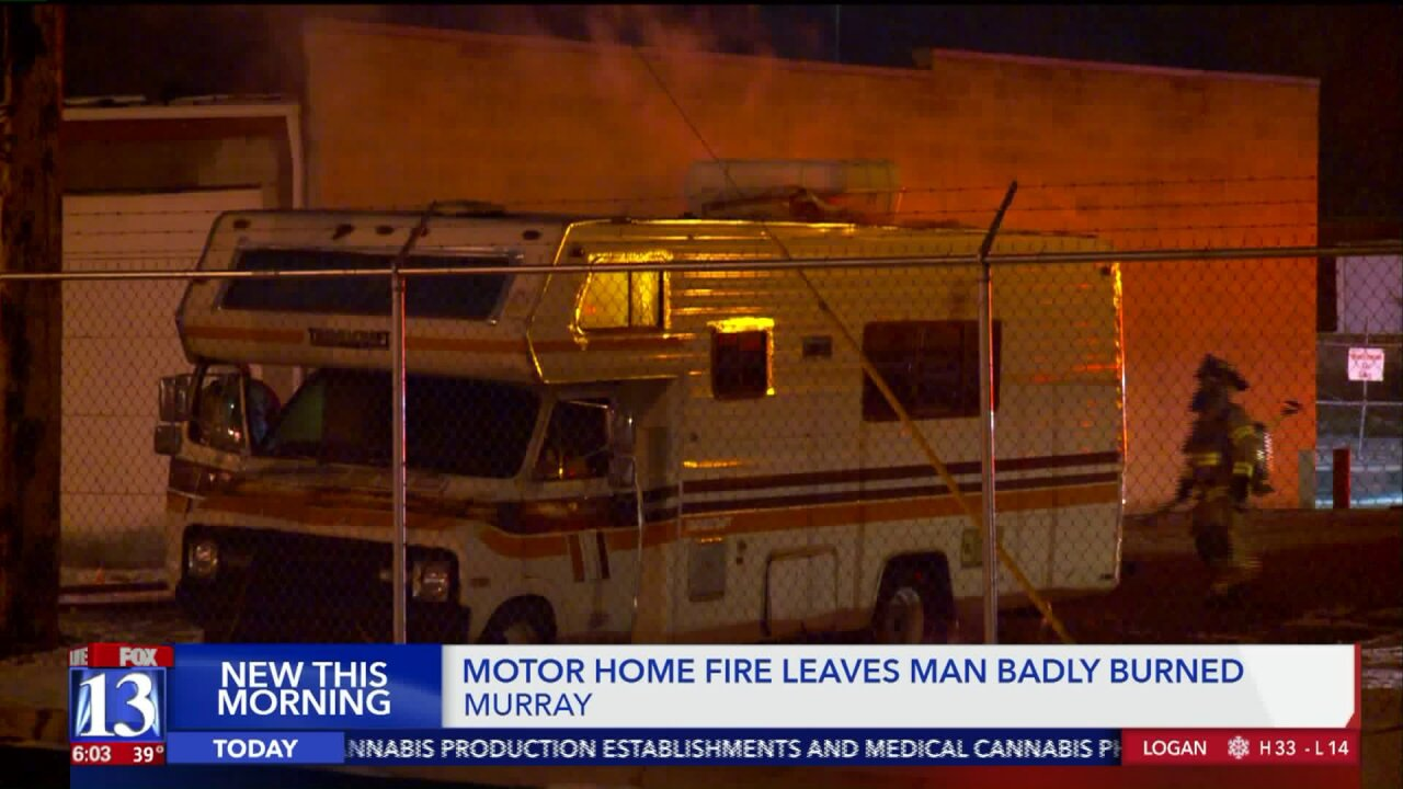 Man badly burned in RV fire in Murray