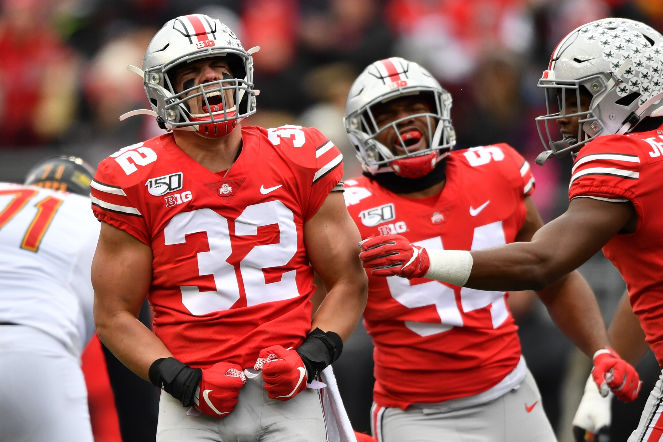 Photos Ohio State Buckeyes Shell Maryland Terrapins In