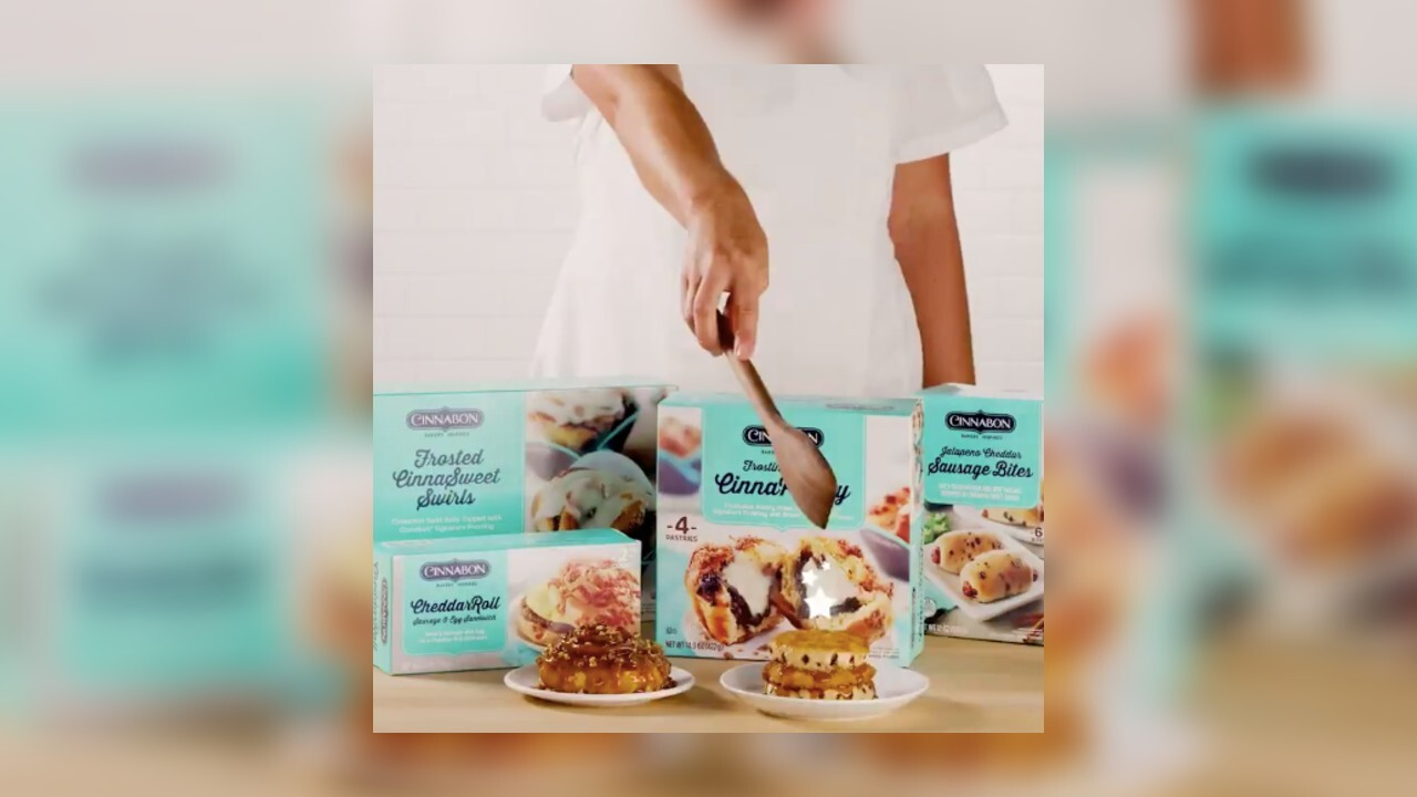 Cinnabon available in freezer aisle at Walmart