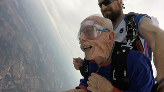 94 year old man skydiving