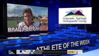 KOAA Athlete of the Week: Brad Helton, Cheyenne Mountain football