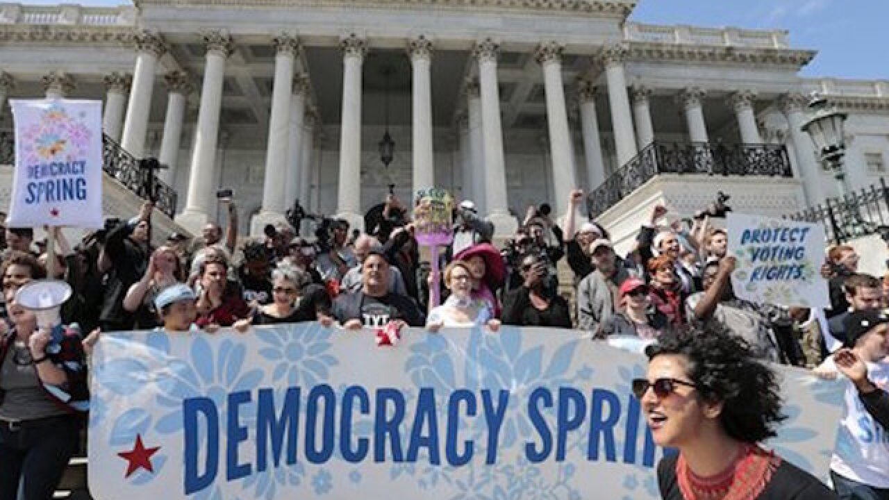 'Democracy Spring' brings protestors to DC