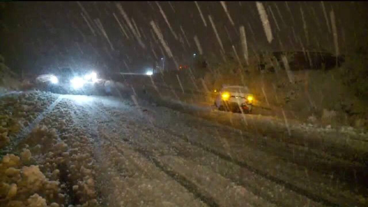 Winter storm causes issues for drivers in northernUtah