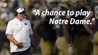 brian kelly a chance to play notre dame