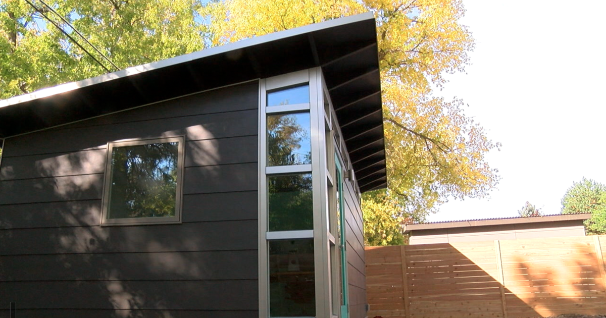 Studio Sheds says more people are building sheds in their backyard for offices and storage space