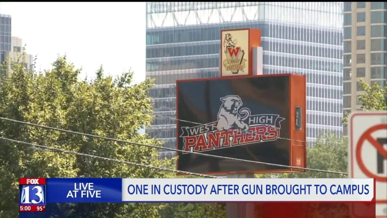 One person in custody after reports of person with gun at West High; lockdownlifted