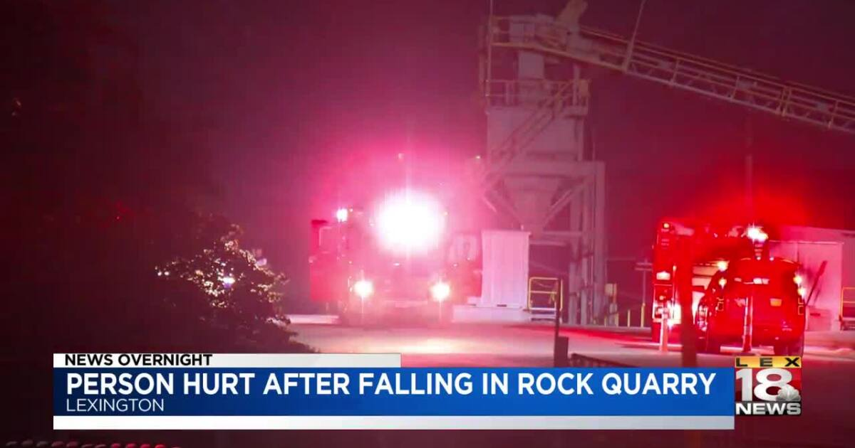 1 person injured in fall at Lexington quarry