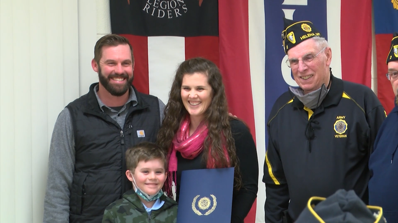 Hanna Marron honored by American Legion