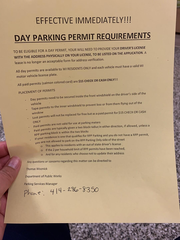 Parking Flier