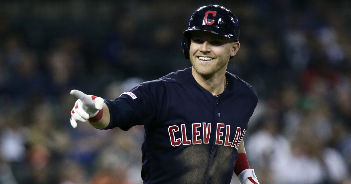 Cleveland's Bauers hits for cycle in huge win over Detroit, 13-4