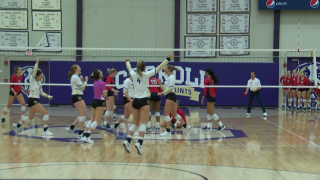 Carroll College Volleyball beats #24 Lewis-Clark State
