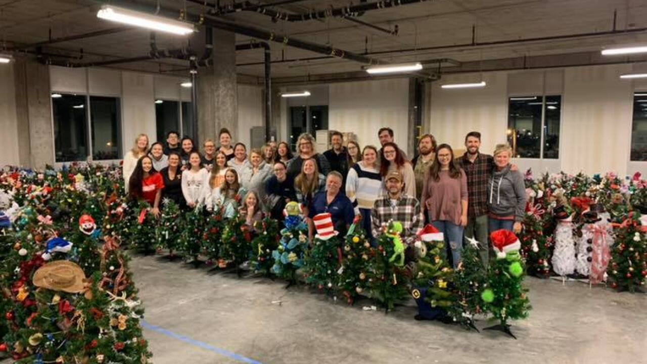 Organization collects tiny Christmas trees for kids staying in the hospital during the holidays