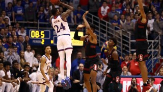 Vick leads No. 2 Kansas past 90-84 win over Stanford in OT