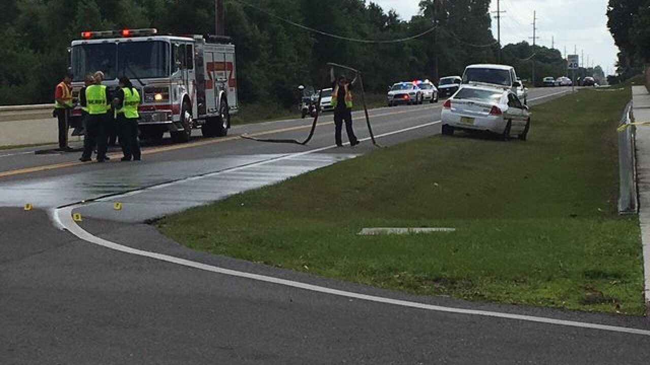 17yo Polk student hit by car walking to bus stop
