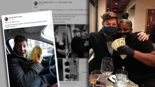 Couple leave 1000 tips