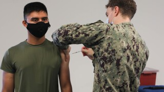 MCCSSS entry-level Marine receive COVID-19 Vaccination