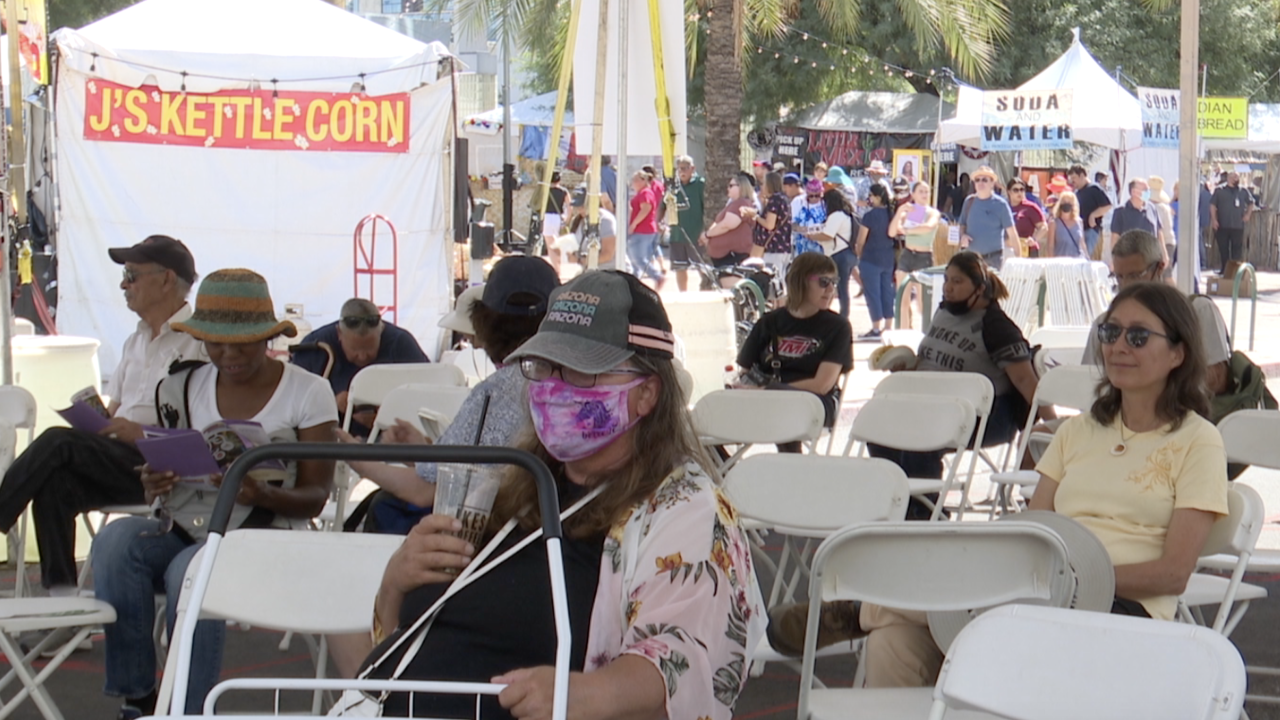 The 48th annual Tucson Meet Yourself Festival kicked off today: sixty nationalities all merged into a couple of blocks in western Tucson.