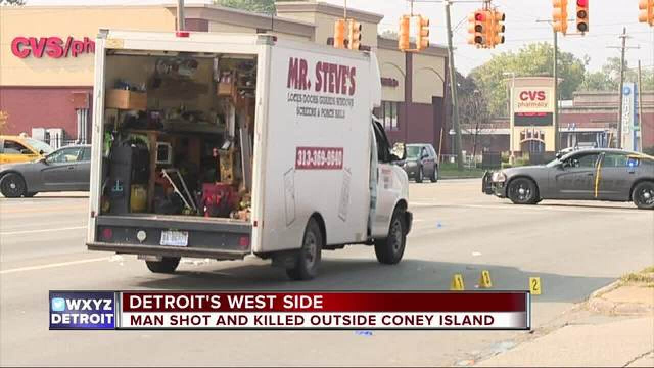 2 shot at coney island restaurant in Detroit