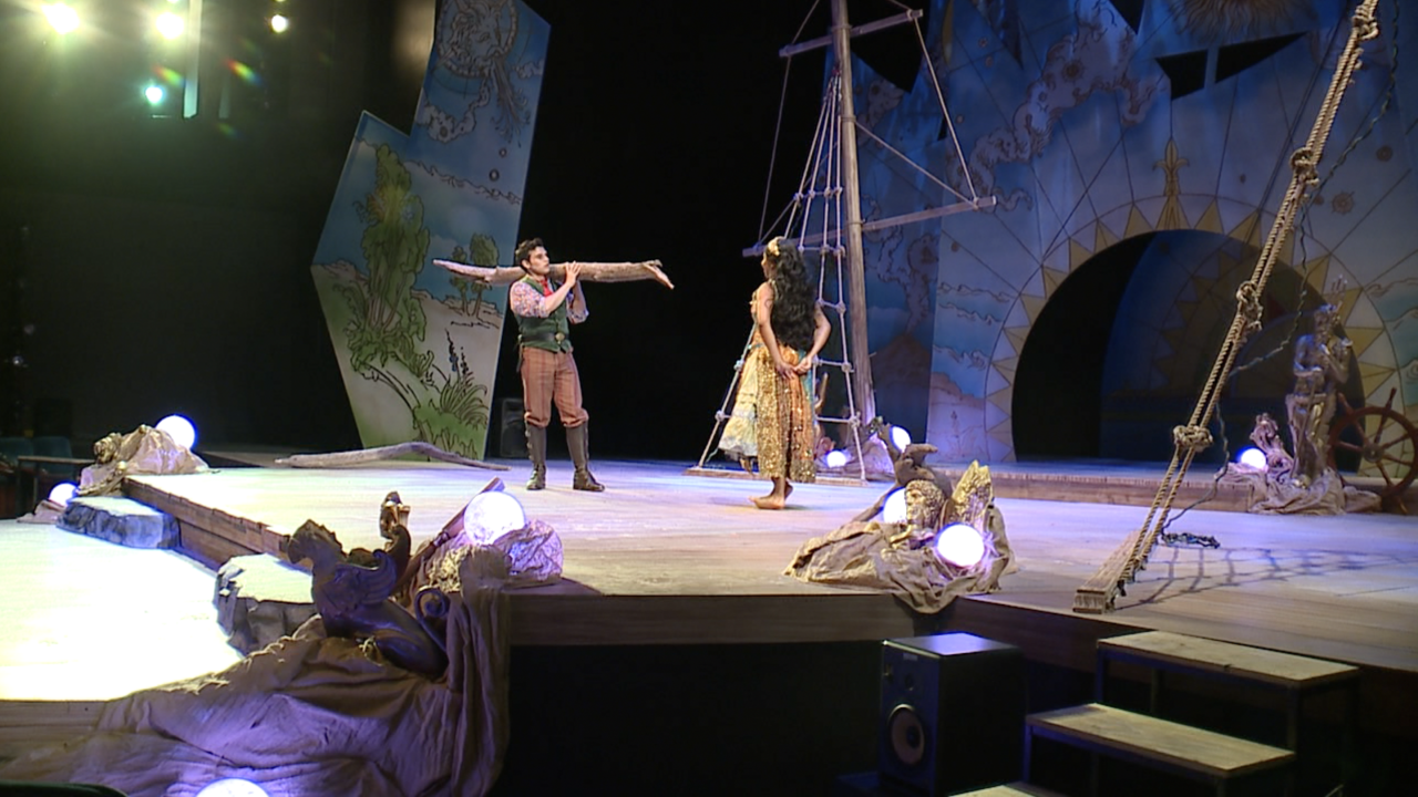 """Students in the Division of Theater at UMKC rehearsing for William Shakespeare's  """" The Tempest"""""""