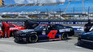 'Blue Lives Matter' car out of NASCAR race due to fire