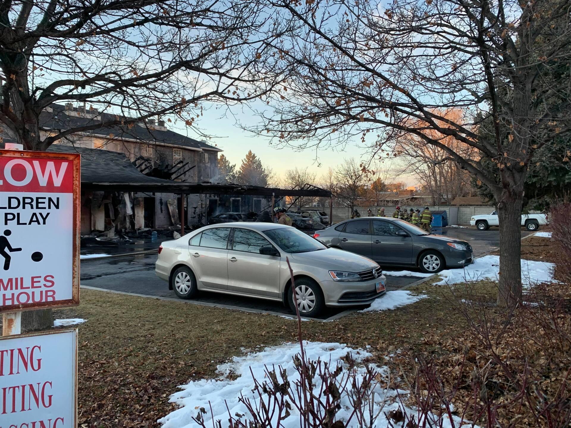Photos: Fire destroys storage units, cars outside Orem apartmentcomplex