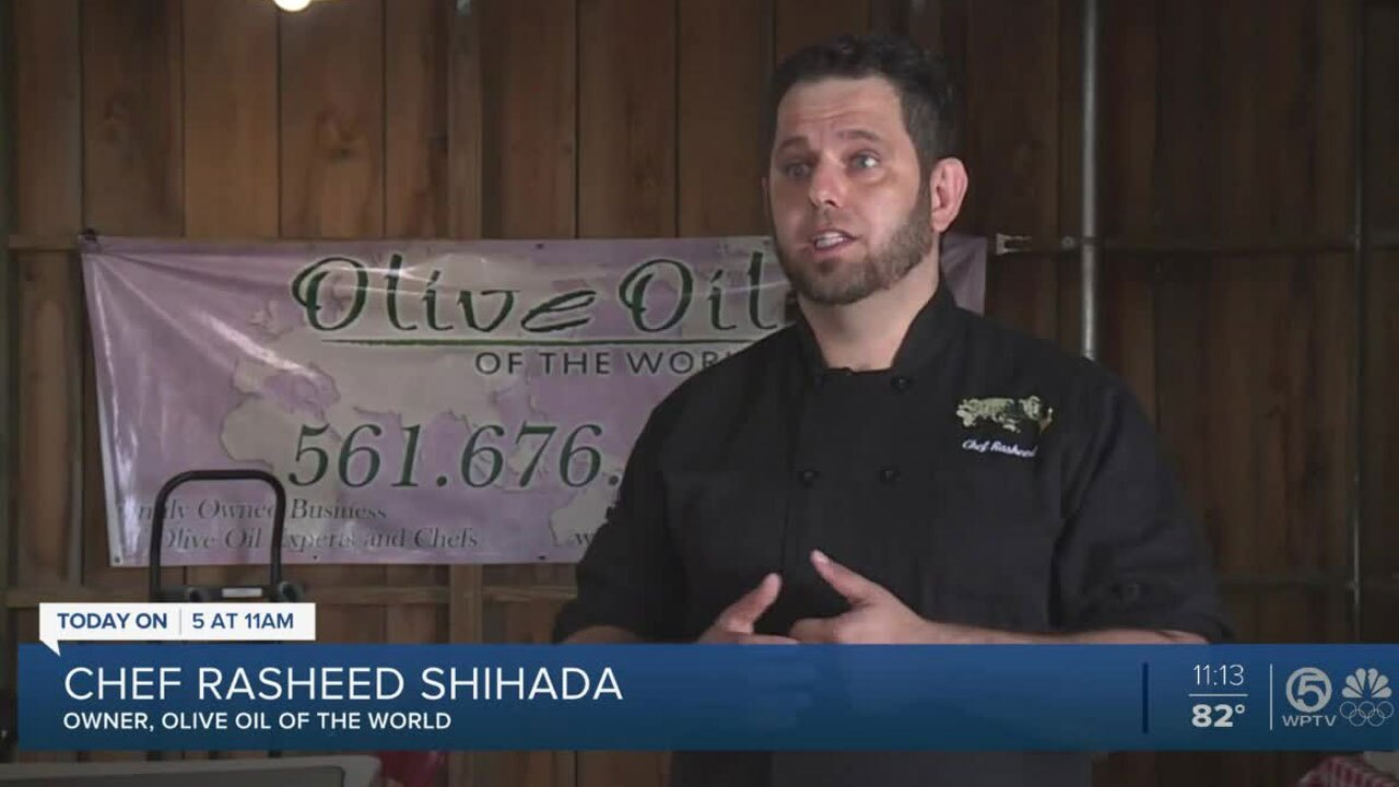 Rasheed Shihada, owner and executive chef for Olive Oil of the World
