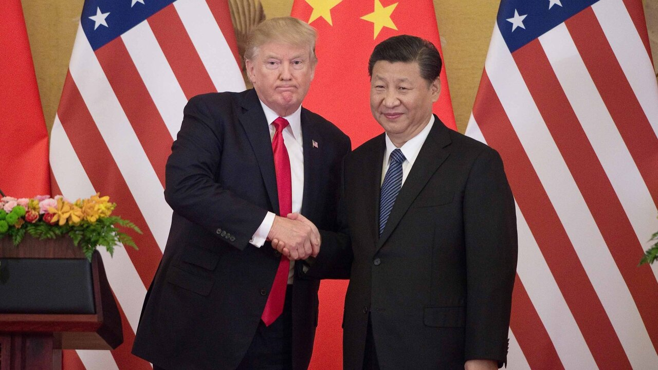 Trump says China trade talks 'back on track'