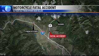 Frenchtown man killed in motorcycle accident
