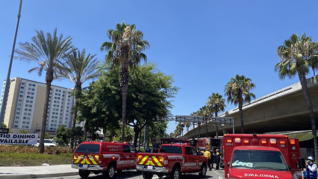 Massive hotel brawl in California ends with 2 people arrested