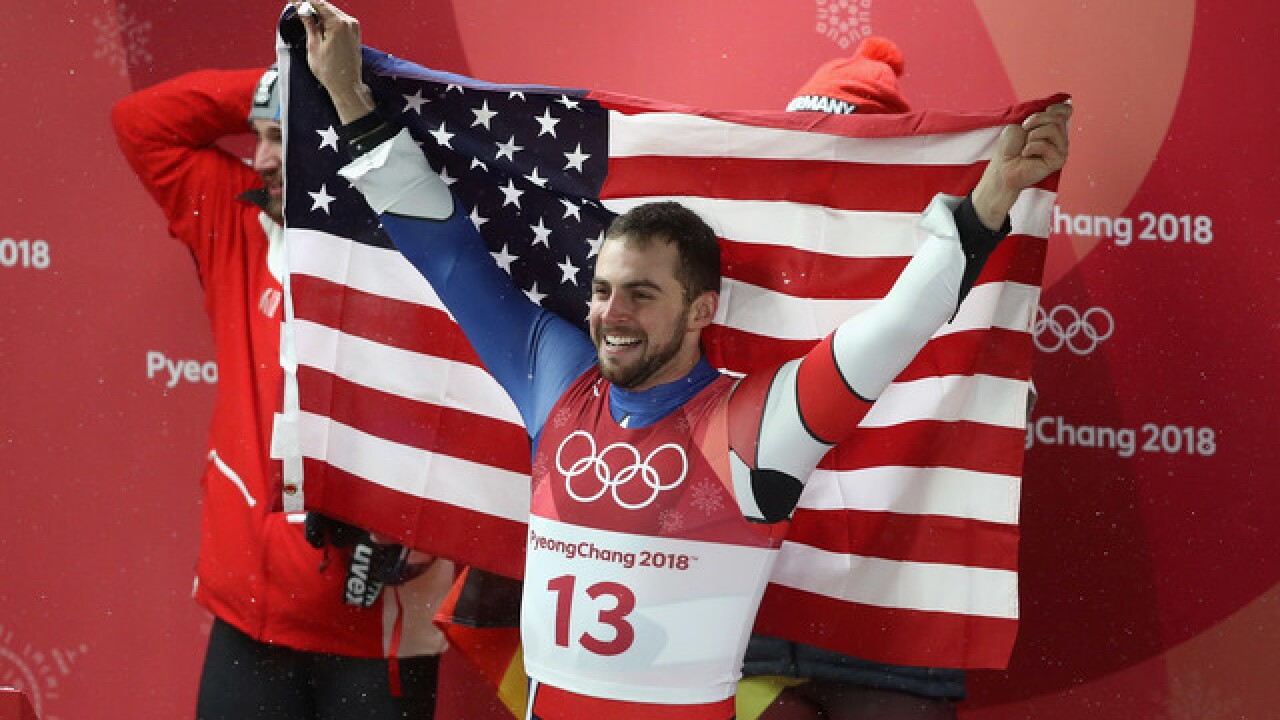 Medal for Mazdzer: For USA Luge, silver seemed like gold