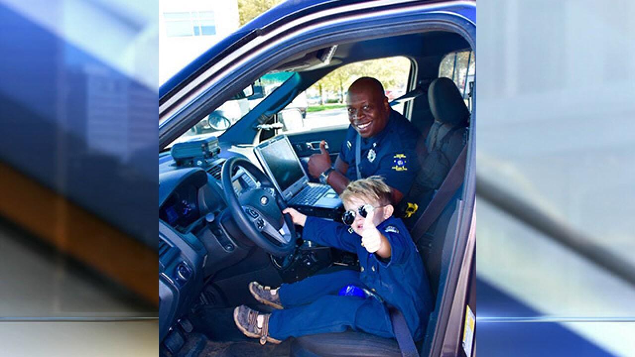 Kid cop helps keep Kansas town safe
