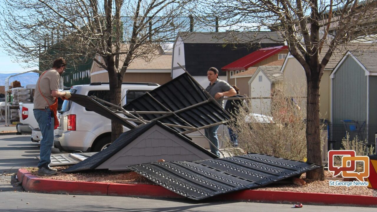 Wind Blows Shed At Utah Home Depot Store Injuring Teen Girl