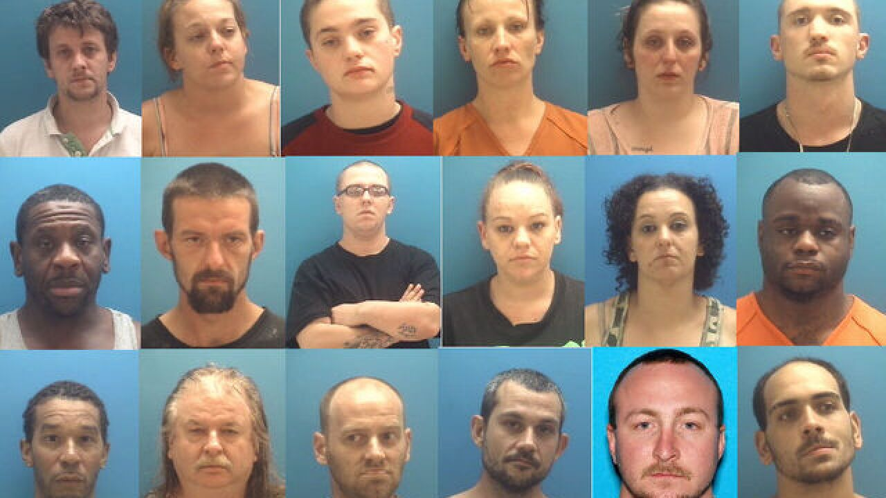 PHOTOS: 16 arrested in drug bust in Columbus