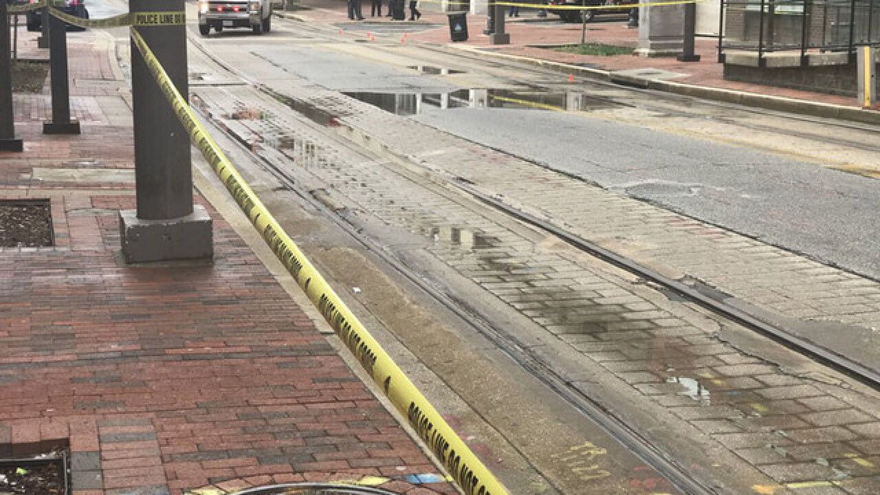 Man cut in half by light rail train in Baltimore
