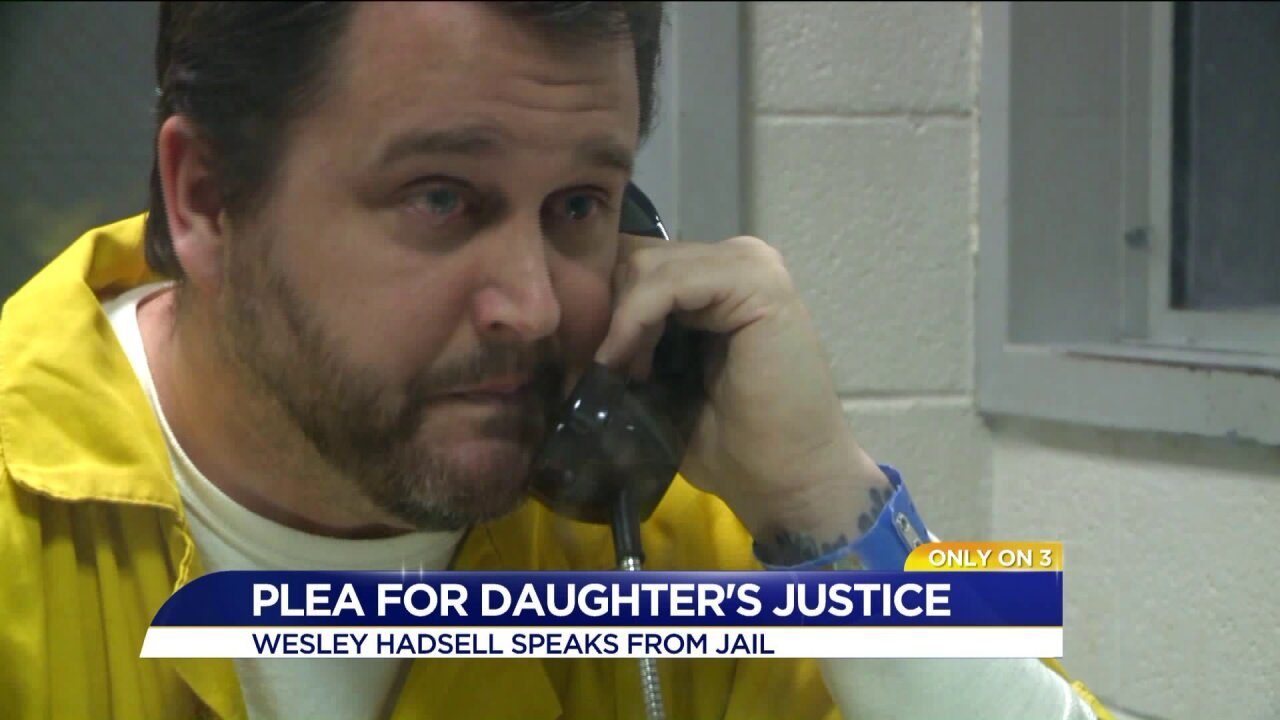 Exclusive: Wesley Hadsell talks from prison after being sentenced to 20 years