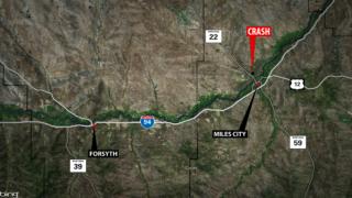 One man dead after crash near Miles City