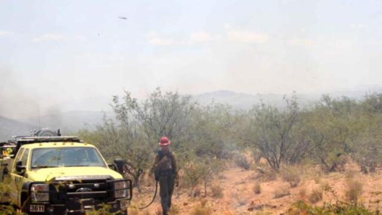 Wildfire grows southwest of Tucson