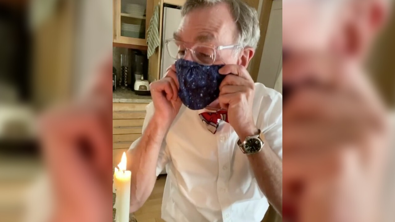 Bill Nye takes to TikTok to demonstrate why you should be wearing a face mask