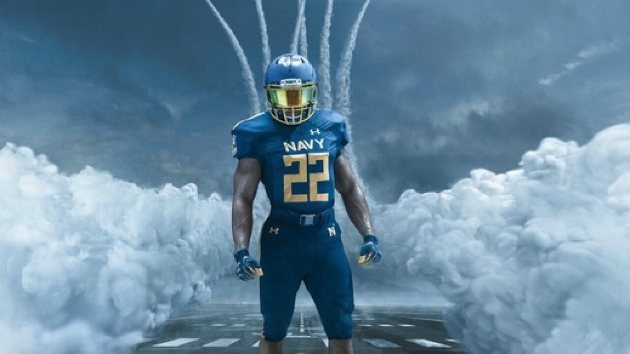 Navy to wear 'Blue Angels' uniforms vs. Army