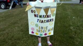 Newfane teacher parade