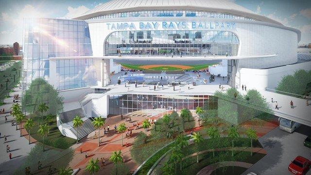 PHOTOS: Rays unveil stadium design for proposed Ybor City site